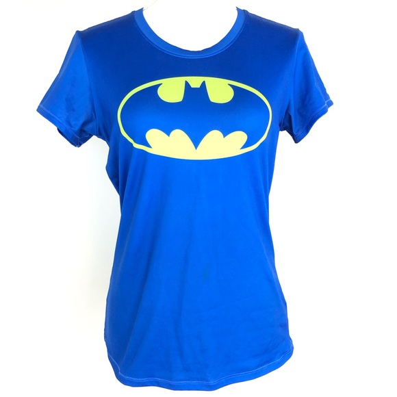 Under Armour Shirt Heatgear Fitted Batman DC Comics Short Sleeve
